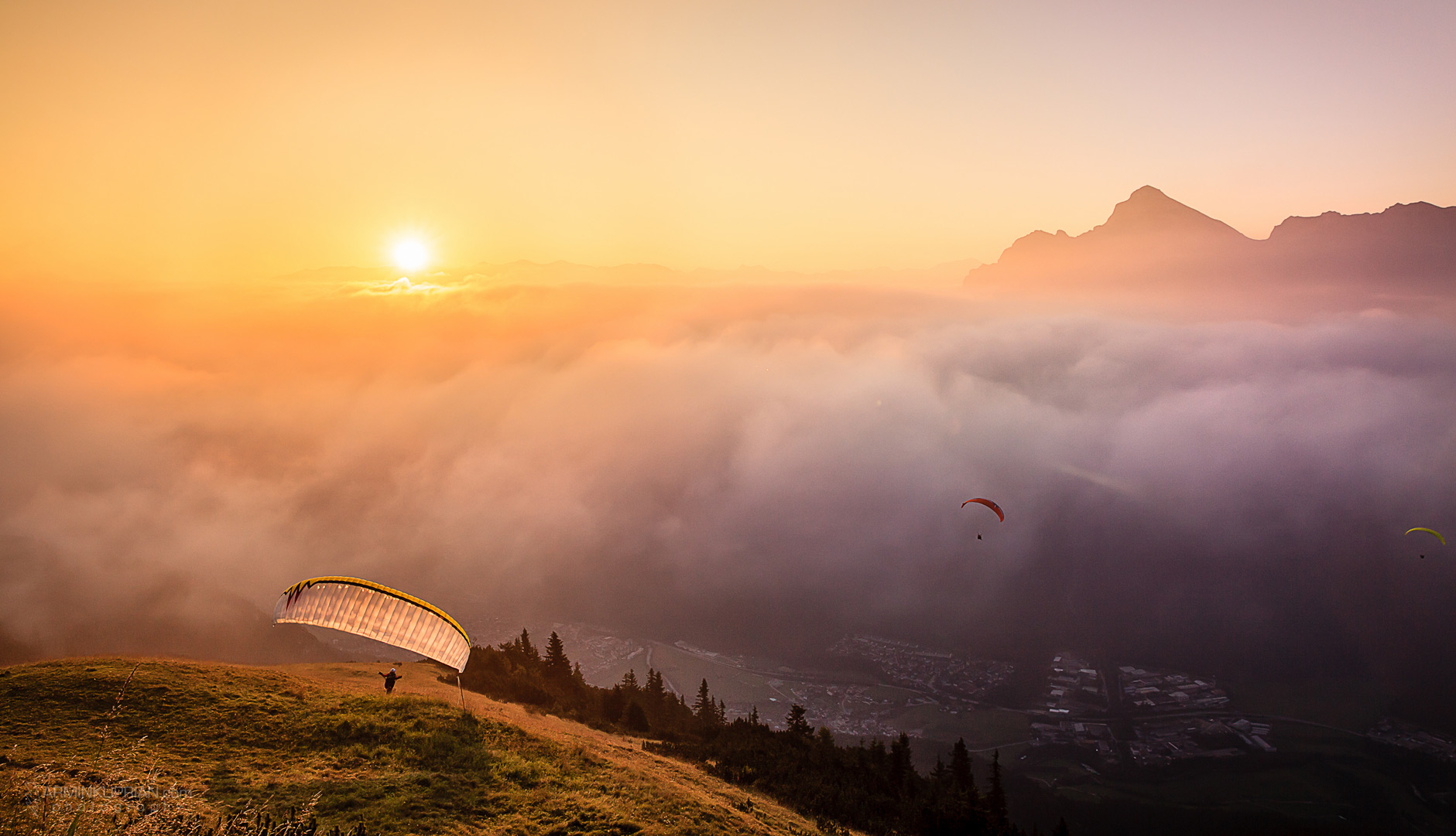 paragliding im stubaital