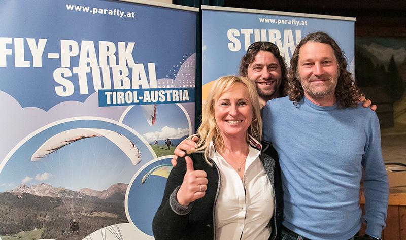 Das Parafly Team mit Antoine Girard